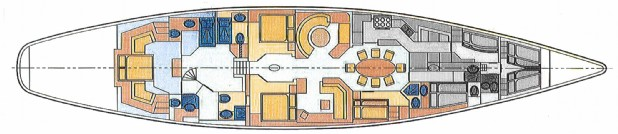 Sail Yacht Layout for Sale Gloria