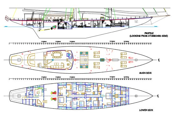 Sail Yacht for Sale Regina Layout