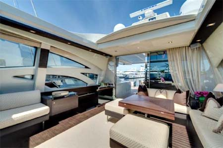 Salon with Roof Open Motor Yacht for Sale