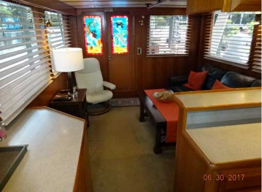 53 DeFever Trawler for Sale Salon