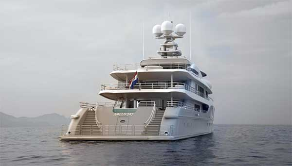 Motor Yacht for Sale Aft View